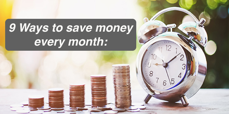 9 smart ways to save your salary every month