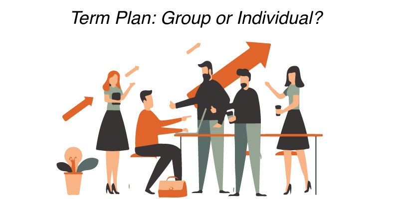Term insurance plan: Group or individual?